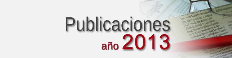 Publicaciones Grupo Corpal 2013