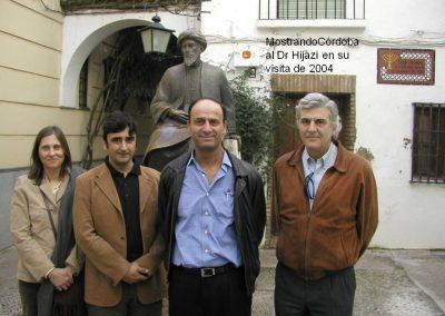 Mostrando Córdoba al Dr Hijazi en su visita en el año 2004