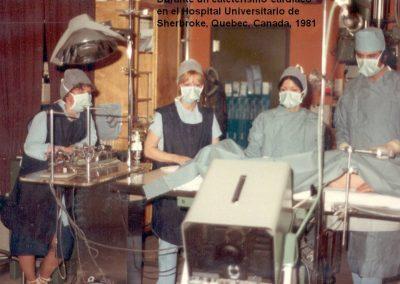 Cateterismo cardiaco en el año 1981 en el Hospital Universitario de Sherbroke
