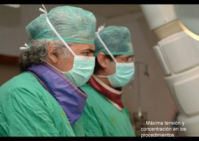 Máxima tensión y concentración en los procedimientos